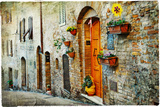 Charming Old Streets of Medieval Towns of Tuscany. Artistic Picture Photographic Print by  Maugli-l
