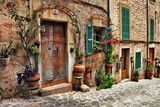 Charming Streets of Old Mediterranean Towns Photographic Print by  Maugli-l