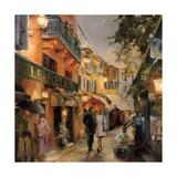 Evening in Paris Giclée-Premiumdruck von Marilyn Hageman
