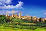View of  San Gimignano - Medieval Town of Toscana, Italy Poster by  Maugli-l