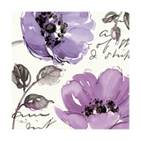 Floral Waltz Plum II Posters by Jess Aiken