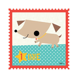 Animal Stamps - Dog One Poster by Jillian Phillips