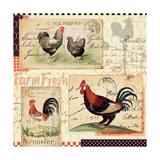 Rooster Farm II Poster by  Pela