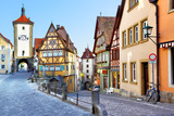 Old Street in Rothenburg Ob Der Tauber, Bavaria, Germany Prints by  Zoom-zoom
