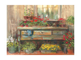 Gardners Table Giclee Print by Carol Rowan