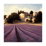 Lavender Fields I Crop Lámina giclée por Wiens, James