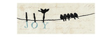 Birds on a Wire Premium Giclee Print by  Pela