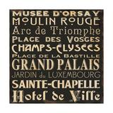 Paris Collage V Prints by Jess Aiken