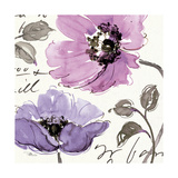 Floral Waltz Plum I Prints by Jess Aiken
