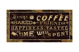 Coffee Quotes III Giclee Print