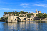 Avignon Bridge with Popes Palace, Pont Saint-Benezet, Provence, France Prints by  Zechal