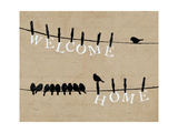Birds on a Wire Prints by  Pela