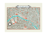 Plan de Paris Map Giclee Print