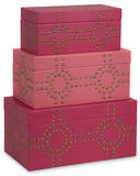 Julia Studded Boxes - Set of 3 Home Accessories
