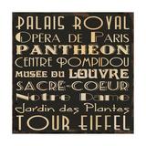 Paris Collage IV Posters by Jess Aiken