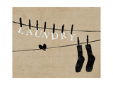 Birds on a Wire Giclee Print by  Pela