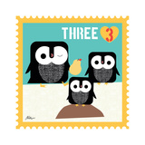 Animal Stamps - Penguin Three Prints by Jillian Phillips