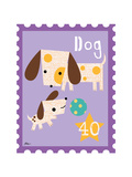 Animal Stamps - Dog Poster by Jillian Phillips