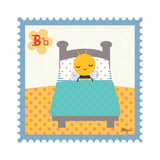 Animal Stamps - Bee Giclee Print by Jillian Phillips