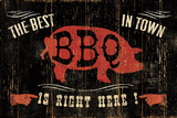 The Best BBQ in Town Giclee Print by Jess Aiken