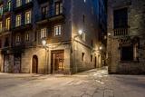 Empty Street of Barri Gotic at Night, Barcelona Prints by NejroN Photo