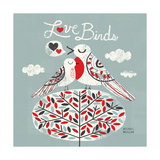 Love Birds Square Giclee Print