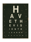 Eye Chart IV Prints by Jess Aiken