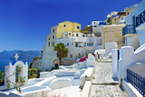 Beautiful Santorini Oia Town View Photographic Print by  Maugli-l