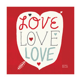 Love Love Love Square Prints