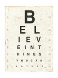 Eye Chart I Posters by Jess Aiken