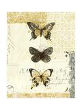 Golden Bees n Butterflies No 2 Giclee-trykk av Katie Pertiet