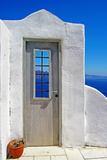 Architectural Details of Santorini - Traditional Cycladic Style Photographic Print by  Maugli-l