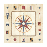 Compass Rose Kunstdrucke von Avery Tillmon