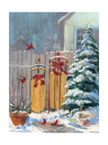 December Sleds Giclee Print by Carol Rowan