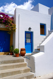 Greek Traditional House Located at Santorini Island Prints by  zozopap