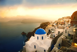 Santorini Island at Sunset Prints by  olly2