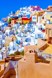 Santorini Oia Greece, View of Pretty Colorful Houses. the Awesome Landscape of Santorini Traditiona Posters by  trans961