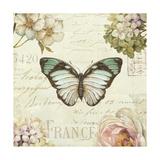 Marche de Fleurs Butterfly II Giclee Print by Lisa Audit