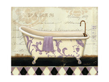 Lavender Marche de Fleurs Bath I Poster by Lisa Audit