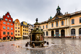 Stortorget in Old City (Gamla Stan), the Oldest Square in Stockholm, Sweden Photographic Print by  anshar