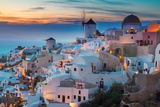 Oia Village at Night, Santorini Photographic Print by  neirfy