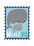 Animal Stamps - Whale Art by Jillian Phillips