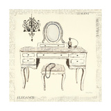 Emilys Boudoir III Table Print by Emily Adams
