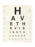 Eye Chart II Prints by Jess Aiken