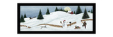 Christmas Valley Snowman with Black Border Premium Giclee Print by David Carter Brown