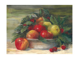 Apples and Holly Art by Carol Rowan