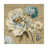 Marche de Fleurs Blue III Print by Lisa Audit