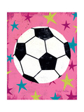 Girls Sports IV Giclee Print