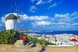Sunny Beautiful Mykonos - Amazing Greek Islands Series Poster by  Maugli-l