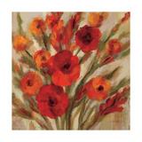 Crimson Blooms II Crop Posters